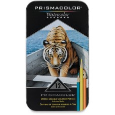 Watercolor pencils Prismacolor Premier 12 colors in metallic case