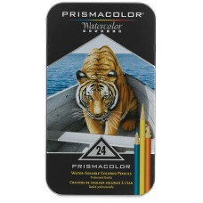Watercolor pencils Prismacolor Premier 24 colors in metallic case