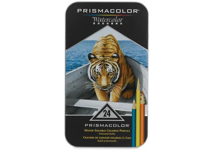 Watercolor pencils Prismacolor Premier 24 colors in metallic case