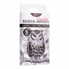 "Sketch marker set Santi Sketch ""Gray Tones"" 6 pieces"
