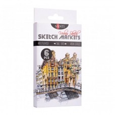 "Sketch marker set Santi Sketch ""Urban Sketch"" 6 pieces"