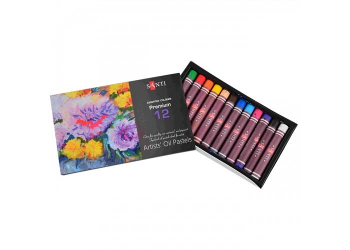Oil pastel Santi - 12 colors