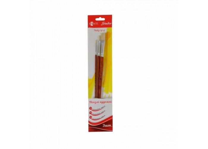 """Set of stubble brushes №6 """"Santi Studio"""" flat №1, 5, 8"""