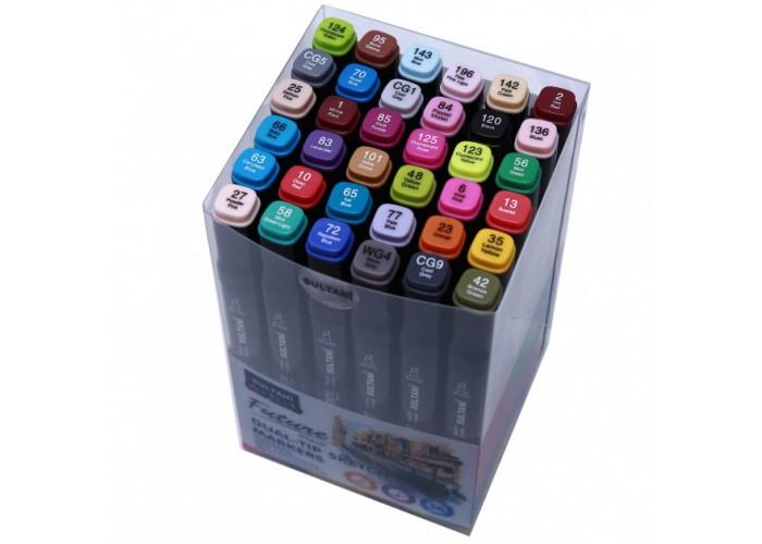 Sketch markers set Sultani 36 colors ST8026-36
