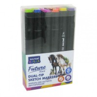 Sketch markers set Sultani 12 colors ST8026-12