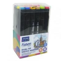 Sketch markers set Sultani 24 colors ST8026-24