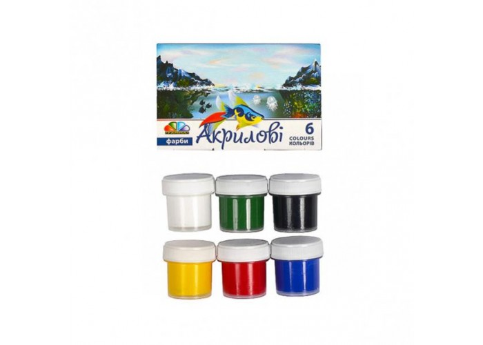 Acrylic paint Gamma 6 colors