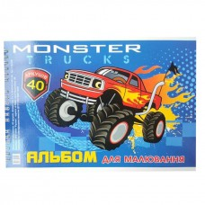 "Album for drawing А4 40 pages on a spiral ""Monster Truck"""
