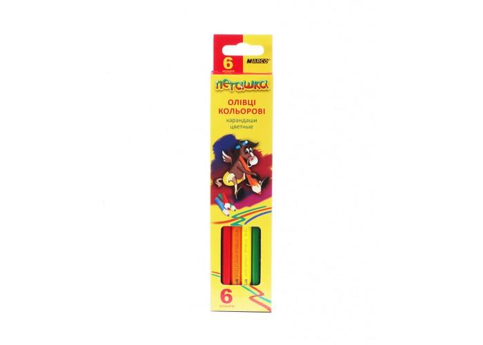 Colored pencils Marco Pegashka 6 colors (1010-6CB)
