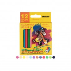Colored pencils Marco Pegashka 12 colors short (1010H-12CB)
