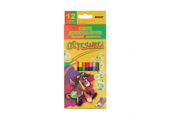 Colored pencils Marco Pegashka 24 colors bilateral (1011-12CB)