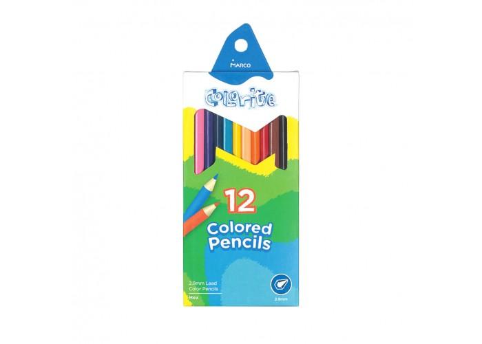 Colored pencils Marco Colorite 12 colors (1100-12CB)