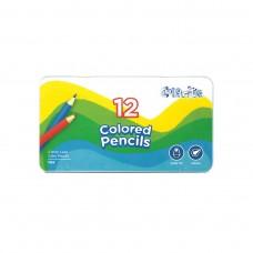 Colored pencils Marco Colorite 12 colors in metal case (1100-12TN)