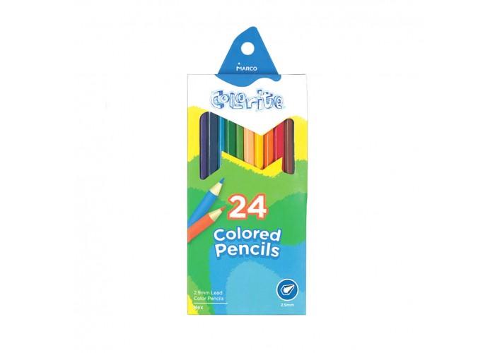 Colored pencils Marco Colorite 24 colors (1100-24CB)