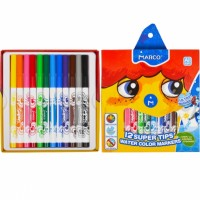 Felt tip markers Marco Super Washable 12 colors (1630-12CB)