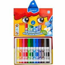 Felt tip markers Marco Super Washable Jumbo thick 12 colors (1632-12CB)
