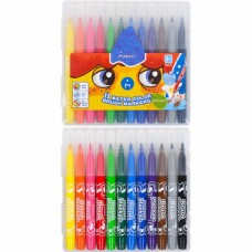 Felt tip markers-brush Marco Super Washable 12 colors (1633-12PB)
