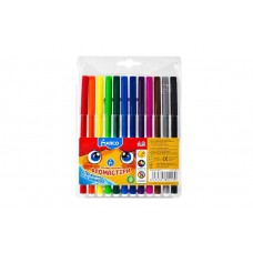Felt tip markers Marco Super Washable 12 colors (1690-12)