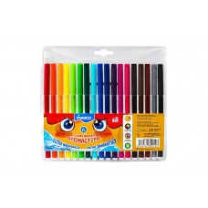 Felt tip markers Marco Super Washable 18 colors (1690-18)