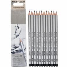 Graphite pencils 2B Marco Raffine 12 pieces (7000-12CB)