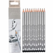 Graphite pencils 2H Marco Raffine 12 pieces (7000-12CB)
