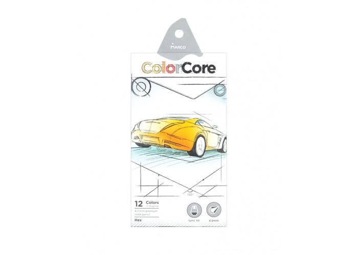 Colored pencils Marco Color Core 12 colors (3100-12CB)