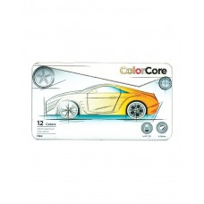 Colored pencils Marco Color Core 12 colors in metal case (3100-12TN)