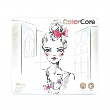 Colored pencils Marco Color Core 24 colors in metal case (3130-24TN)