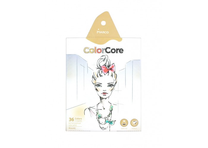 Colored pencils Marco Color Core 36 colors (3130-36CB)