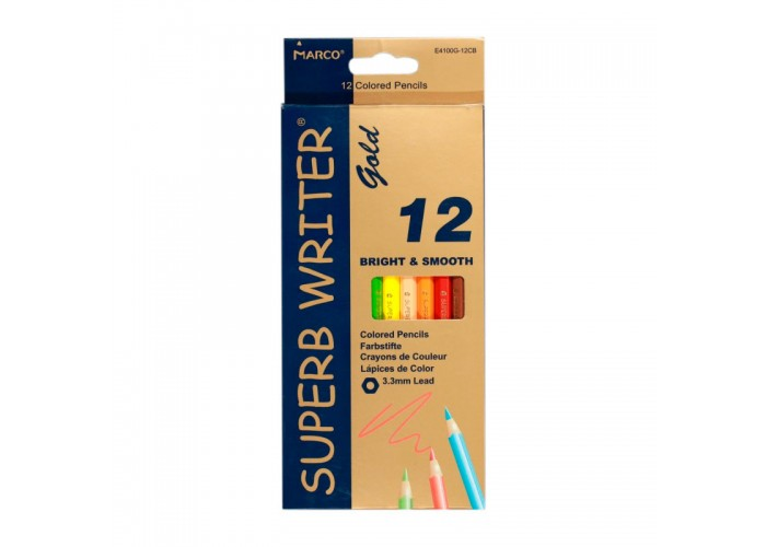 Colored pencils Marco Superb Writer Gold 12 colors (E4100G-12CB)