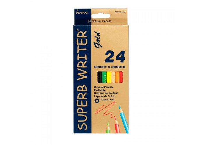 Colored pencils Marco Superb Writer Gold 24 colors (E4100G-24CB)