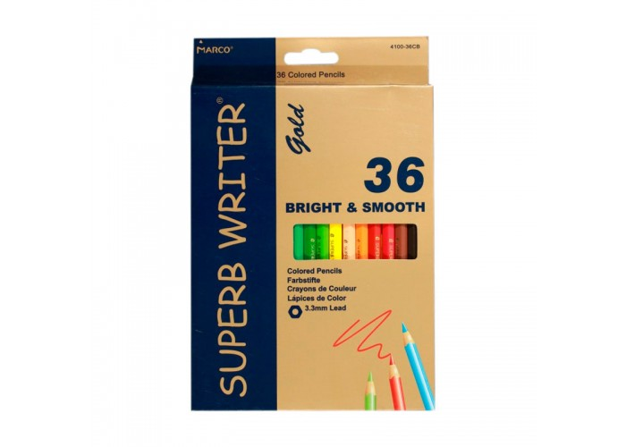 Colored pencils Marco Superb Writer Gold 36 colors (E4100G-36CB)