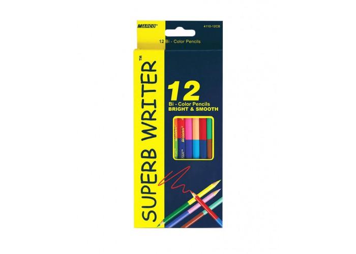 Colored pencils Marco Superb Writer 24 colors bilateral (4110-12CB)