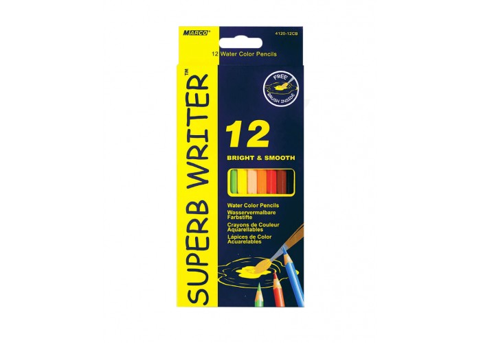 Watercolor pencils Marco Superb Writer 12 colors (4120-12CB)
