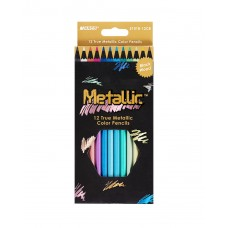 Colored pencils Marco Metallic 12 colors (5101-12CB)
