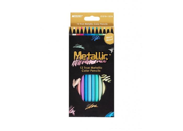 Colored pencils Marco Metallic 12 colors (5101-12CB)
