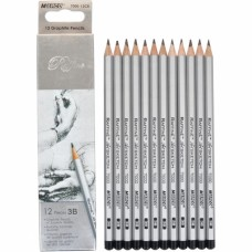 Graphite pencils 3B Marco Raffine 12 pieces (7000-12CB)