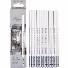 Pastel pencils Marco 12 pieces white (7012-12CB)