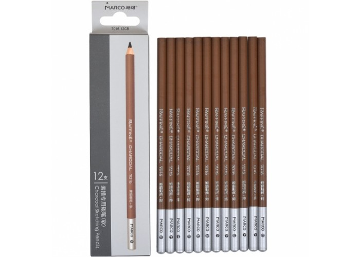 Charcoal pencils Marco 12 pieces gray (7016-12CB)