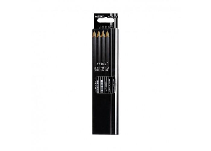 Graphite pencils HB with eraser Marco Superb Writer (4200-144CB)