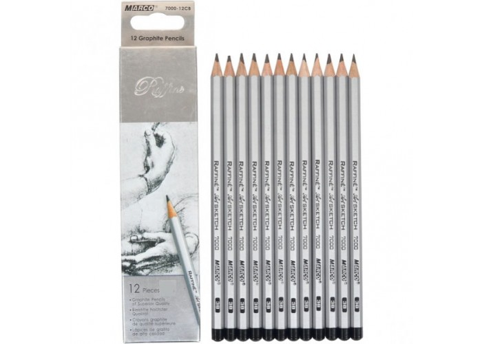 Graphite pencils 8B Marco Raffine 12 pieces (7000-12CB)