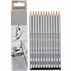 Graphite pencils B Marco Raffine 12 pieces (7000-12CB)