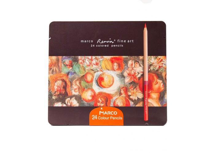 Colored pencils Marco Renoir Fine Art 24 colors