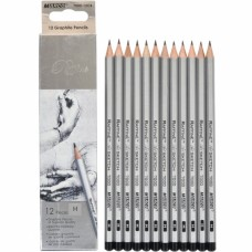 Graphite pencils H Marco Raffine 12 pieces (7000-12CB)
