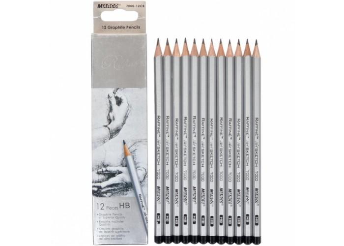 Graphite pencils HB Marco Raffine 12 pieces (7000-12CB)