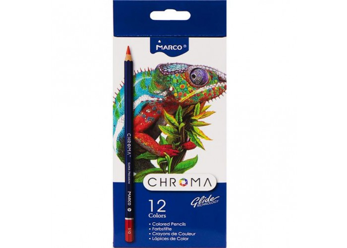 Colored pencils Marco Chroma 12 colors (8010-12CB)