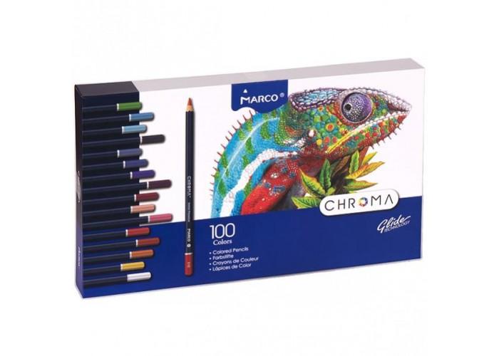 Colored pencils Marco Chroma 100 colors (8010-100CB)