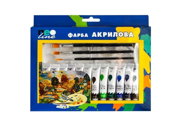 Set of acrylic paint - 12 colors