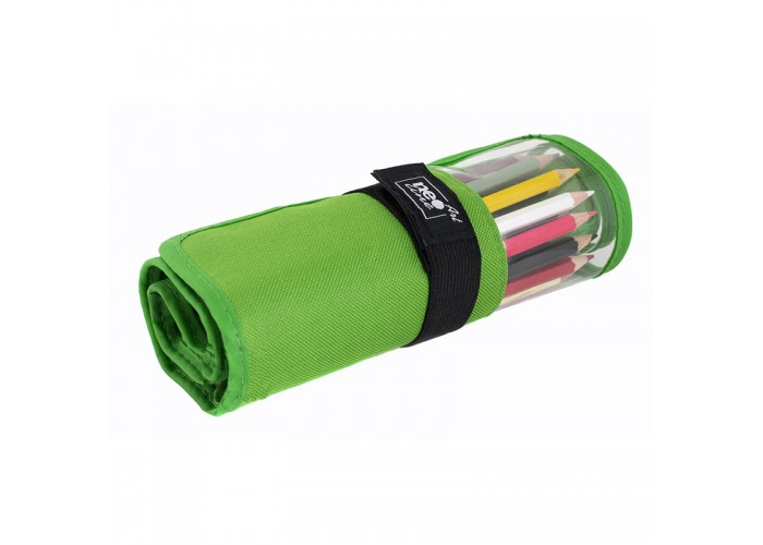 Pencil box roll Neoline for pencils 24 pc. with window without filling green