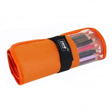 Pencil box roll Neoline for pencils 24 pc. with window without filling orange